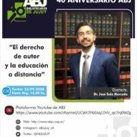 Ciclo de conferencias 40 aniversario ABJ – 23/09